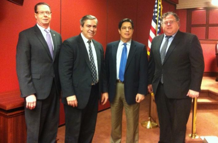 Co-chairs of the PA Legislative Arts & Culture Caucus (l-r): Rep. Stan Saylor (R-94), Sen. Patrick Browne (R-16), Sen. Jay Costa (D-43), and Rep. Tim Briggs (D-149)