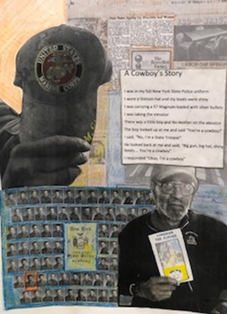 Shown above is an image of a piece of art created by a veteran at the Gino J. Merli Veterans' Center in Scran-ton, PA.