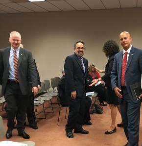 Arts & Culture Caucus Meeting :: September 30, 2015. Pictured (l-r) Rep. David Parker, Michael Norris (GPCA)