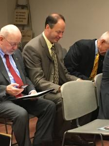 Arts & Culture Caucus Meeting :: September 30, 2015. Pictured left to right are  Rep. Stephen McCarter and Rep. Mark Longietti.