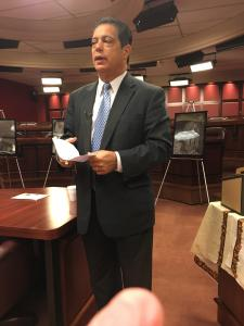 Senator Jay Costa at the Arts & Culture Caucus Meeting held on September 30, 2015.